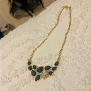 Gold and Emerald colored necklace